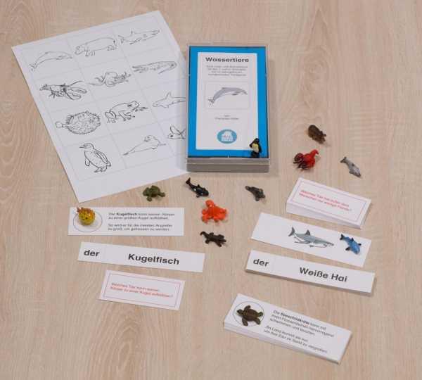 Wassertiere - Übersicht Material