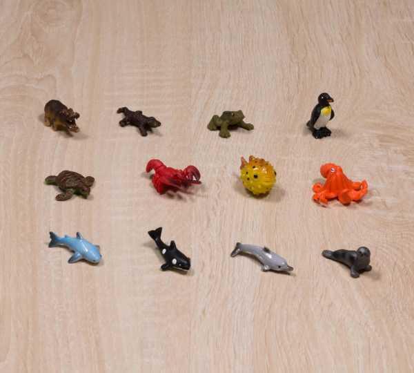 Tierfiguren-Ersatzset - Wassertiere