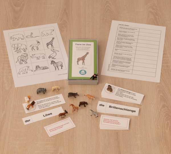 Tiere im Zoo - Materialübersicht