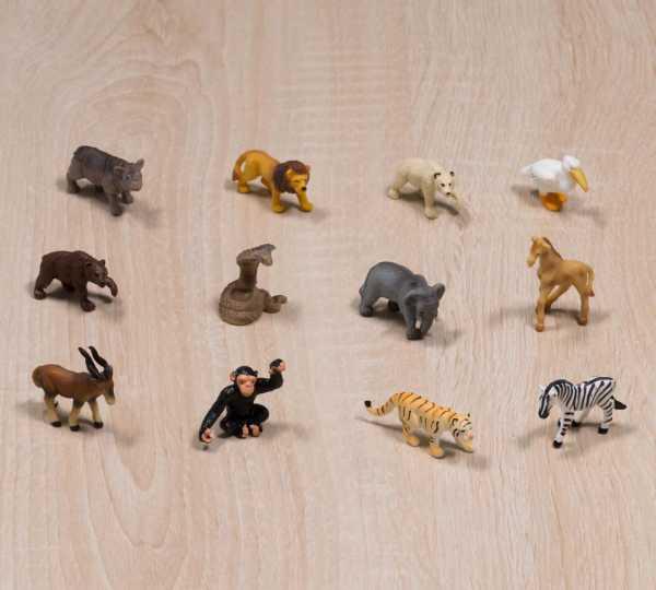 12er Set Ersatztiere - Tiere im Zoo